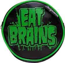 78025 Black Green Eat Brains Zombie Coin Purse Change Holder Wallet Sourpuss NEW