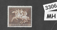 #3306  MH stamp Sc B192 1941 Brown Ribbon Horse race Third Reich Munich Germany