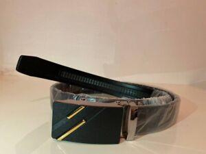 Men's Leather Auto Buckle Belt