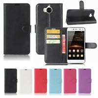 Premium Wallet Leather TPU Case Cover For HUAWEI Y5 2017 Screen Protector