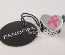 BREAST CANCER AWARENESS Authentic PANDORA Hope RIBBON Pink Charm ENG792015_1 NEW