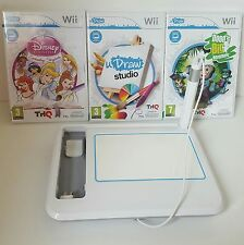 Wii udraw tablet and 3 drawing games bundle -Dood/Princess/U draw studio doodles