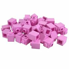 35 New Lego Brick, Modified 1 x 1 with Stud on 1 Side Bright Pink