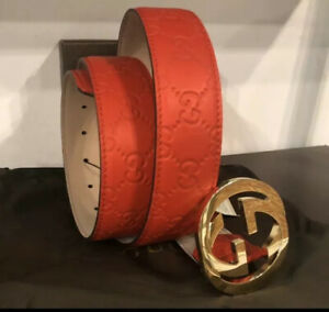 Gucci belt Original Guccissima Red Color Size-110 cm,fits 38/40 waist New w/tags