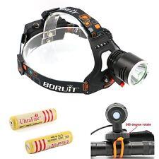 2200LM CREE XM-L2 LED Headlamp Headlight Bike Bicycle Light Lamp+2x18650 UKStock
