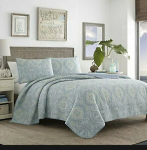 Tommy Bahama Turtle Cove Collection Quilt Set-100% Cotton Reversible Bedding ...