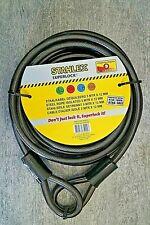 Seil 12mm x 5m 2 St Schlaufe Seilschloß Schloß Kabelschloß Stahlseil Absperrseil