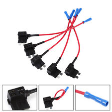 5x Car Add Circuit Piggy Back Tap Standard 1A-40A ATO ATC Blade Fuse Box Holder