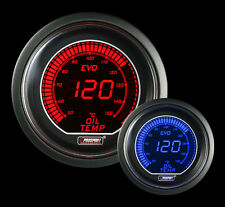 Metric OIL TEMPERATURE Gauge Prosport EVO Series Red and Blue 52mm 2 1/16""