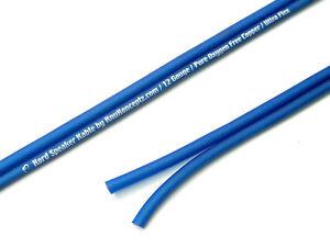 KnuKonceptz Kord Speaker Wire Ultra Flex Blue OFC 10 Gauge Cable 5'