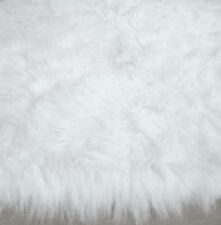 """Shaggy Fluffy Flokati  Rug SHAG Solid  White 3 inch Thick  Size 31""""x47"""" NEW"""