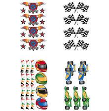 FORMULA 1 Race Cars Flag Helmet Stars Flame 28 Wall Sticker Decals