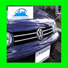 1999-2005 VW VOLKSWAGEN GTI GOLF CABRIO CHROME GRILLE TRIM 99 00 01 02 03 04 05