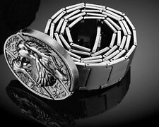 Men's Domineering Personality Tiger Design Defensive metal Stainless Steel Belt