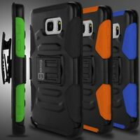 Holster Belt Clip Cover Hybrid Hard Stand Case for Samsung Galaxy Note 5 Phone