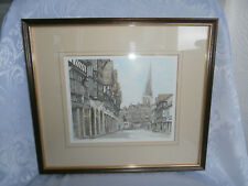 PHILIP MARTIN CROOKED SPIRE CHESTERFIELD LIMITED EDITION SIGNED PRINT 303/850