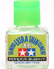 TAMIYA 87182 Quick-Setting Extra Thin Cement 40ml PLASTIC MODEL KIT TOOLS NEW