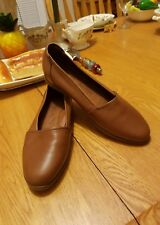 Decoys By Auditions Women Leather Brown  Slip On Shoes Size 8M  Brazil GUC