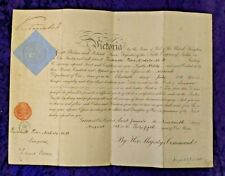 1881 hand signed Queen Victoria Military commission