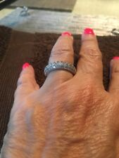 Sterling Silver .925 Cz Band Ring Size 6
