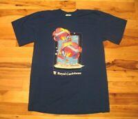 Vintage Royal Caribbean Blue Cotton Cruise Fish Graphic T Shirt Mens 2XL Panama