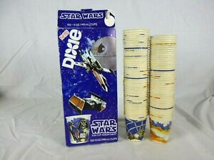 Vtg 1980 Star Wars 5 oz Dixie Paper Cups In Open Box - 97 CUPS