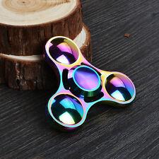 Rainbow Titanium Znic Alloy Tri-Spinner Fidget Hand Finger Spinner Toy EDC