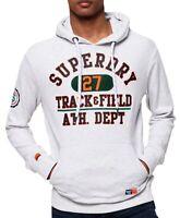 Superdry Track & Field Logo Overhead Hoodie Sweatshirt Hooded Top Ice Marl Grey