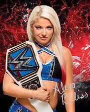 ALEXA BLISS #2 (WWE) - 10x8 PRE PRINTED LAB QUALITY PHOTO (SIGNED) (REPRINT)