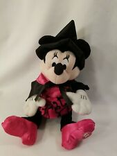"""New listing Disney 10"""" Minnie Mouse Pink Witch Trick or Treat Plush Sitting Halloween Ee"""