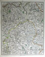 STAFFORDSHIRE  DERBYSHIRE CHESHIRE NEWCASTLE JOHN CARY GENUINE ANTIQUE MAP c1794