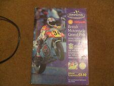 1991 PROGRAMMA UFFICIALE ACU SHELL SUPERCUP MOTO CAMPIONATO Cadwell Park