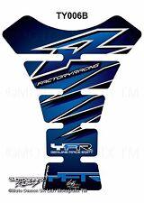 Yamaha YZF R1 / R6 Blue Silver Motorcycle Tank Pad Motografix 3D Gel Protector