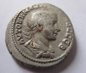 Billon-Tetradrachm of Gordianus III. from Antioch Rv. eagle standing facing