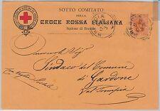 ITALIA REGNO: CROCE ROSSA BRESCIA Red cross - Sassone 61 su BUSTA   1896