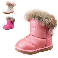 Bambina Stivali Da Neve Invernali Impermeabile Scarpe Calde Suola Di Gomma