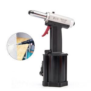 "Air Rivet Gun 1/4"" Pneumatic Hydraulic Pro Rivet Gun Industrial Metal Tool Set"