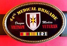 Vietnam Veteran -44th MEDICAL BRIGADE-Epoxy Photo  Buckle NEW!
