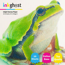 10 sheets of Professional A4 High Glossy Inkjet Canvas Paper