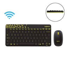 Logitech MK240 Nano Wireless Keyboard +Mouse Kit Plug and Play W/ Receiver Black