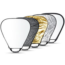 """Neewer Portable Multi Disc Triangle 24"""" Photography Reflector 5-in-1 Collapsible"""