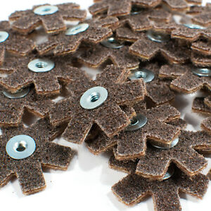 """25pc 2"""" Surface Conditioning Star Abrasive Disc -Brown Coarse Grade"""