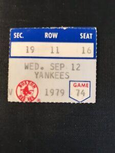 1979 Carl Yastrzemski  3000 Hit Ticket Pass/small Boston Red Sox  Fenway Park