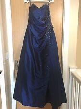 Stunning Midnight Blue Sequinned Strapless Prom Dress By Scarlett Size 12