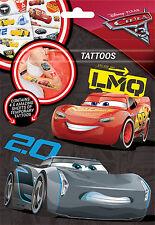 DISNEY Pixar Cars 3 tatuaggi temporanei per bambini PARTY Borsa Fete crtat