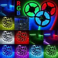 16.4FT/5M 5050 RGB White SMD LED Flash Flexible Waterproof Light Strip DC 12V