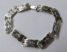 Armband Silber 925 rhodiniert u. geschwärzt Vintage 70er bracelet silver