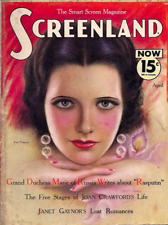 SCREENLAND MAGAZINE • APRIL 1933 • KAY FRANCIS cover • KING KONG, THE MUMMY
