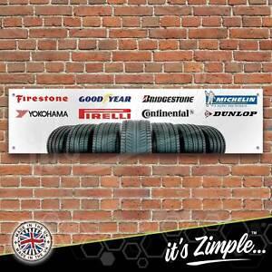 Tyre Logos Banner Garage Workshop Sign Printed PVC Trackside Display