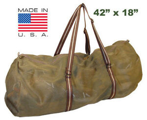 "Goose Decoy Bag 42"" Heavy Weight Mesh Super Large holds LOTS of decoys Gray/Tan"